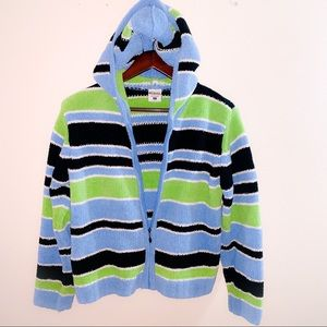 Columbia Sherpa Stripe Zip Up Sweater